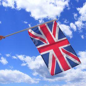 Union Jack Hand Waving Flag