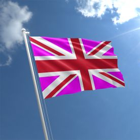 Union Jack Pink With Red Flag