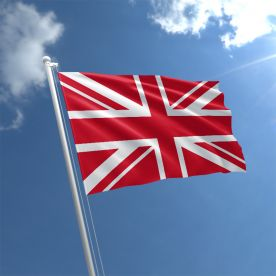 Red Union Jack Flag