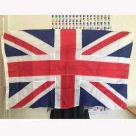 Union Jack sewn flag