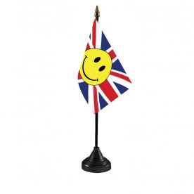 Union Jack Smiley Table Flag