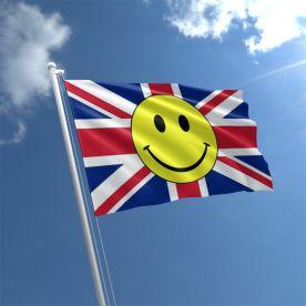 Union Jack Smiley Face Flag
