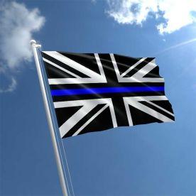 Union Jack Thin Blue Line Flag 5Ft X 3Ft
