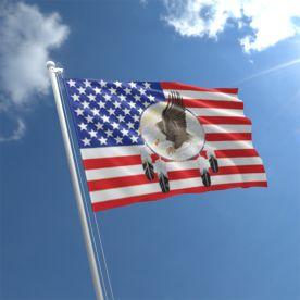 USA Eagle Dreamcatcher Flag