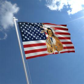USA Indian Flag