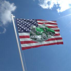 USA Truck Flag