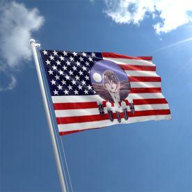 USA Wolf Dreamcatcher Flag
