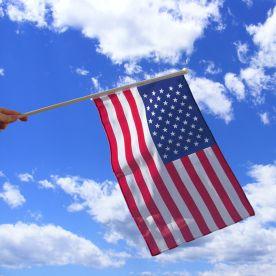 USA Hand Waving Flag