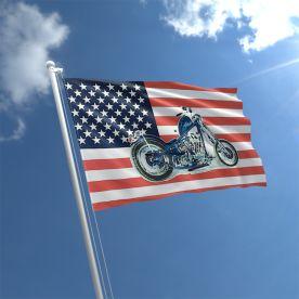 USA Motorcycle Flag