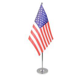 USA table flag satin