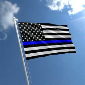 USA Thin Blue Line Flag 5Ft X 3Ft
