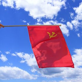 USSR Hand Waving Flag