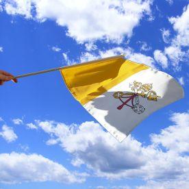 Vatican City Hand Waving Flag