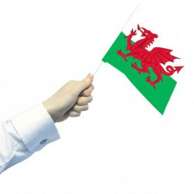 Wales Hand Flags (Pack Of 12)