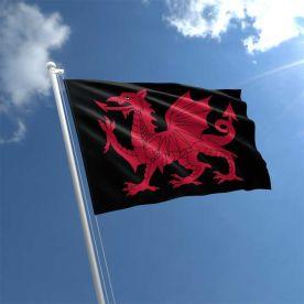 Black Wales flag