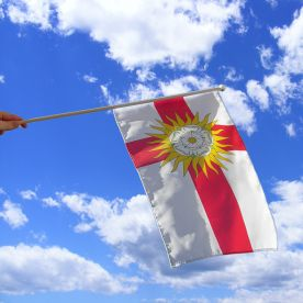 West Riding Hand Waving Flag