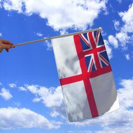 Royal Navy Hand Waving Flag