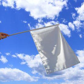 White Hand Waving Flag
