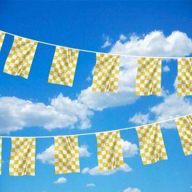 Yellow & White Checkered Bunting 6M
