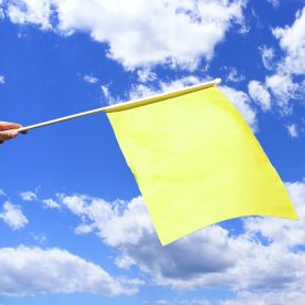 Plain Yellow Hand Waving Flag