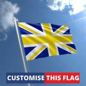 Custom Yellow & Blue Union Jack Flag