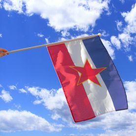 Yugoslavia Hand Waving Flag