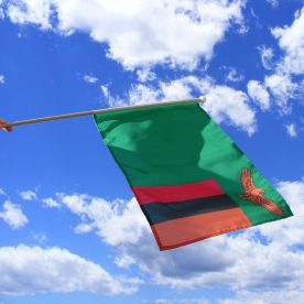Zambia Hand Waving Flag