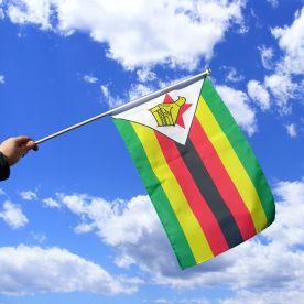 Zimbabwe Hand Waving Flag